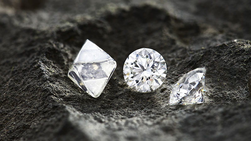 Diamond Polished and Rough